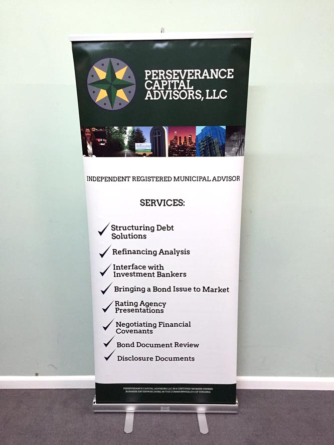 Economy Retractable Banner Stand With Graphic Banner Stands
