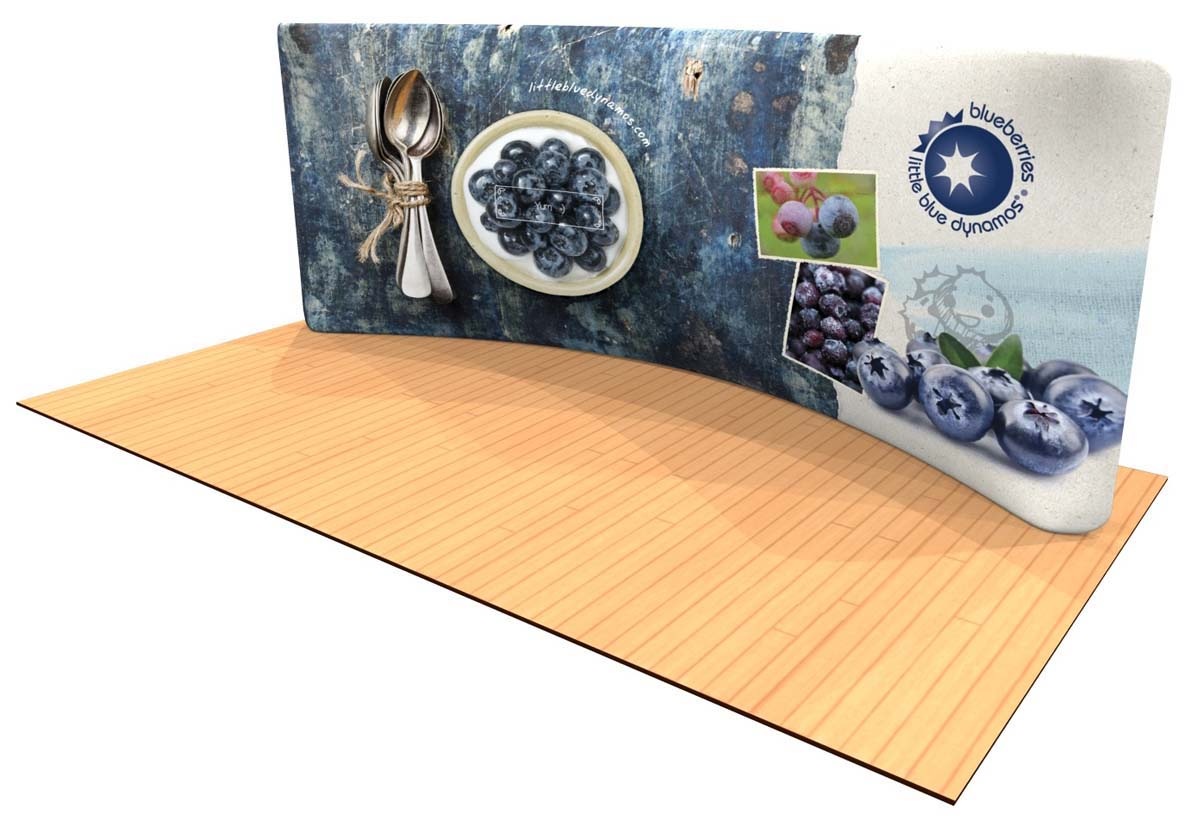 20ft curve tension fabric display