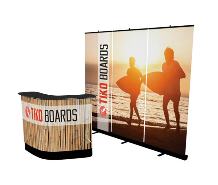 banner stand wall premium kit