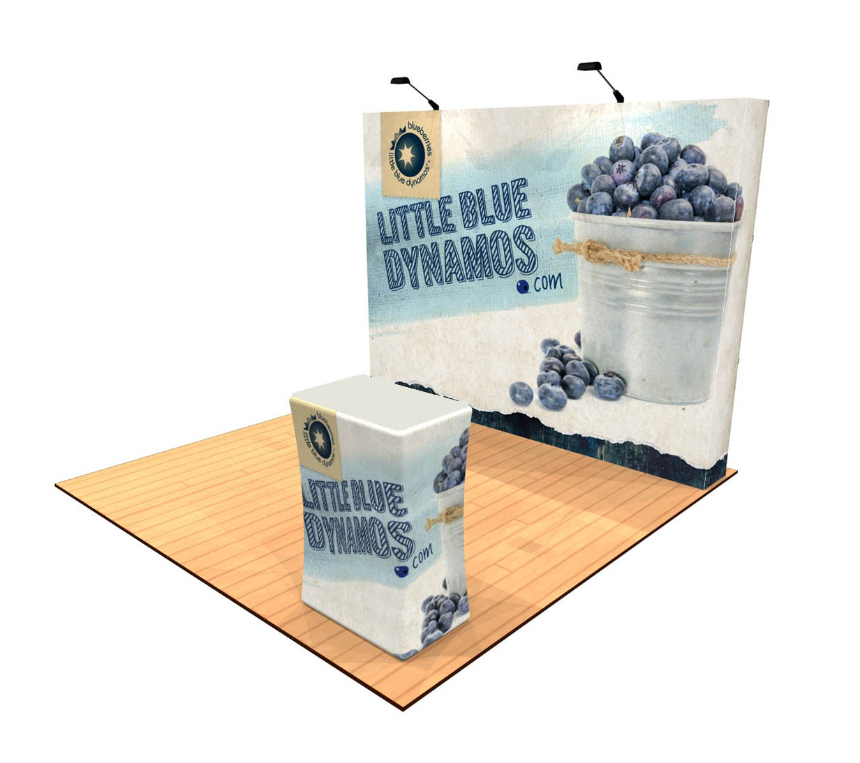10ft Tension Fabric Pop Up Display with Counter