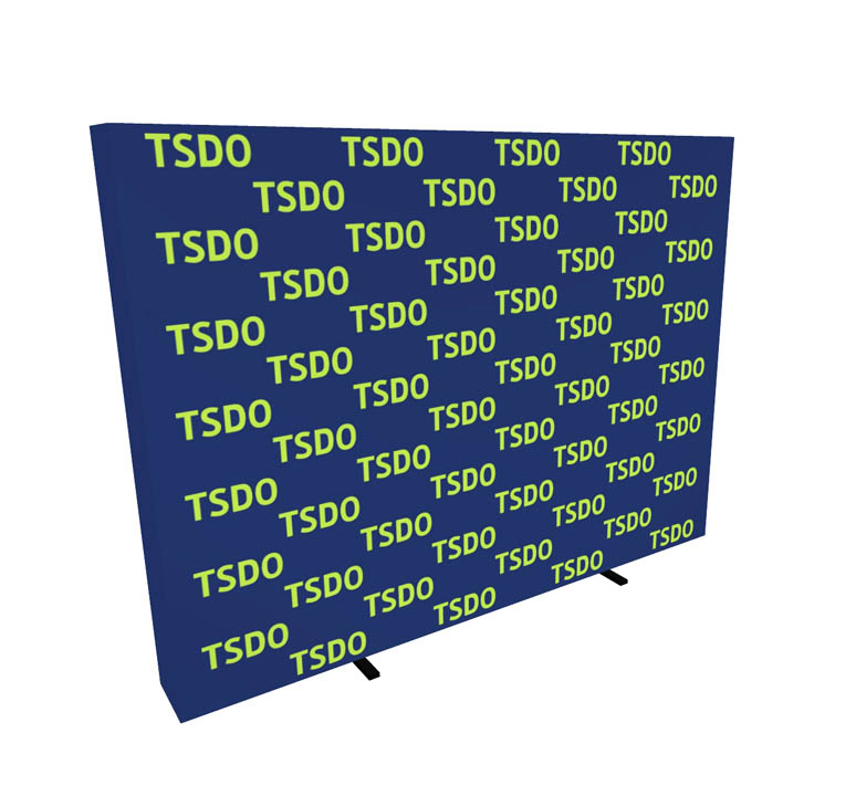 10ft Step and Repeat Pop Up Media Backdrop Side View