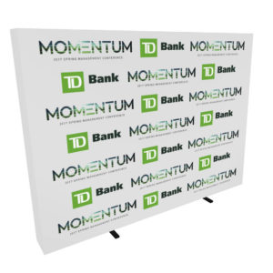 10ft step and repeat pop up media backdrop