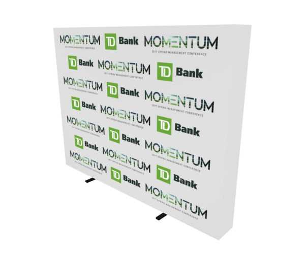 10ft step and repeat pop up media backdrop angle