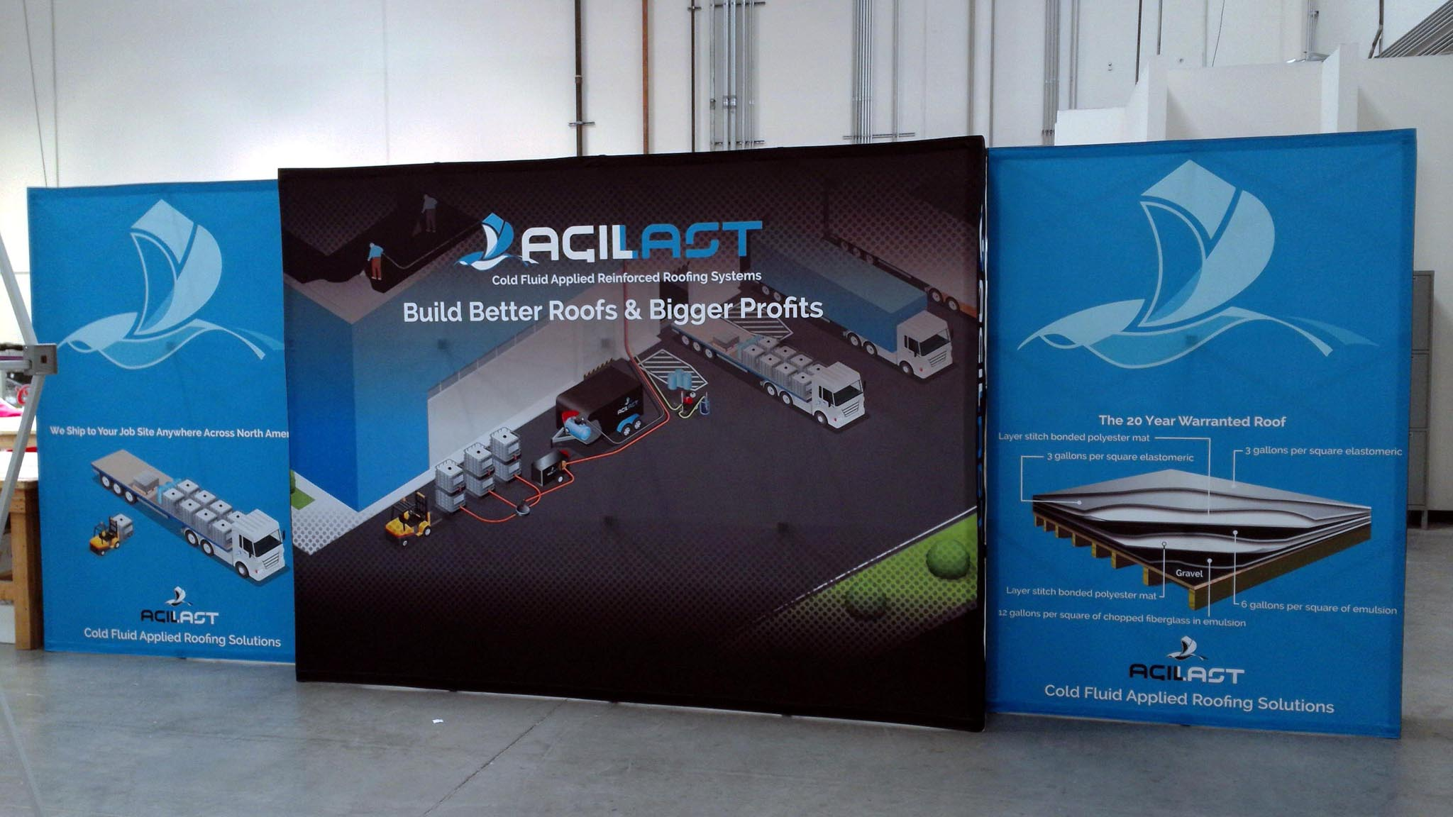 20ft Tension Fabric Pop Up Display Kit 10 X 20 Trade