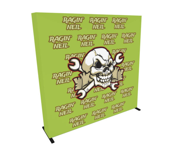 8ft Step and Repeat Pop Up Media Backdrop