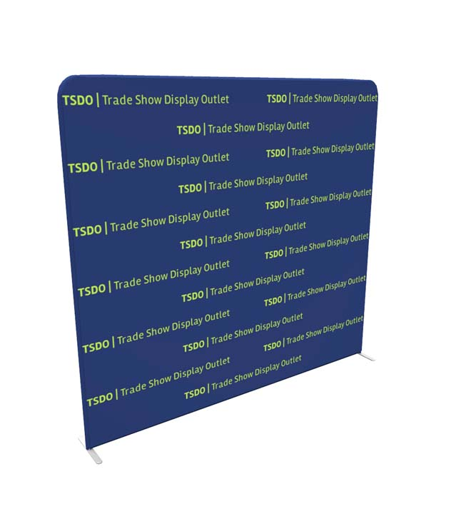 8ft Tension Fabric Step and Repeat Media Backdrop Side View