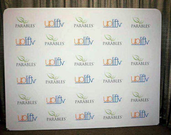 8ft tension fabric step and repeat media backdrop picture