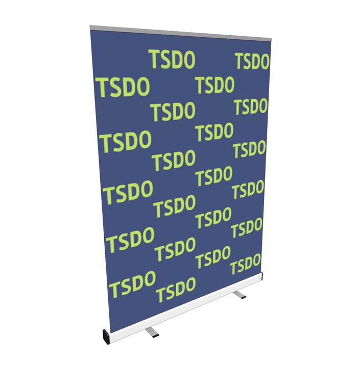 Step and Repeat Banner Stand side
