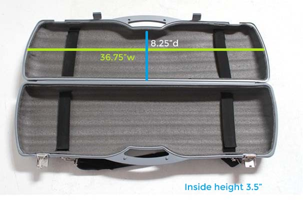 Locking Banner Stand Ship Case Dimensions