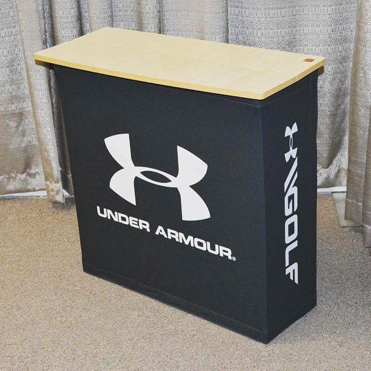 pop up fabric counter