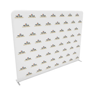 10ft step and repeat tension fabric media backdrop