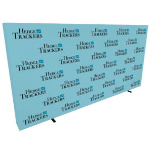 20ft step and repeat pop up media backdrop