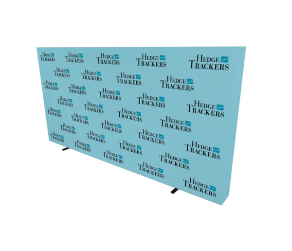 20ft step and repeat pop up media backdrop angle