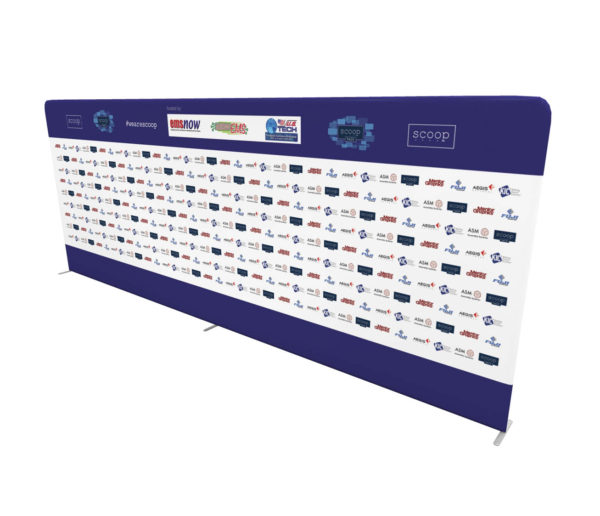 20ft Step and Repeat Tension Fabric Media Backdrop angle