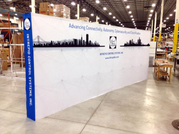 20ft tension fabric pop up display picture