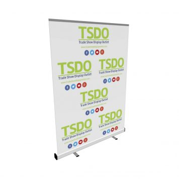 step and repeat retractable banner stand