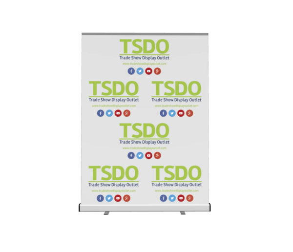step and repeat retractable banner stand front