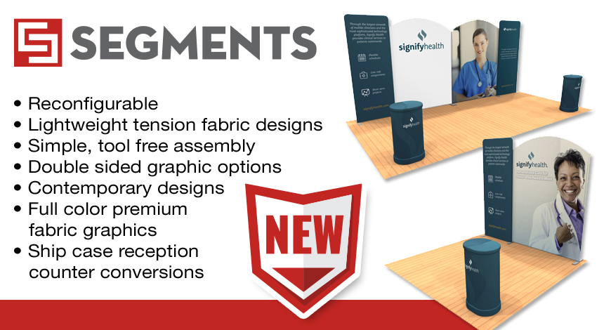segments tension fabric displays