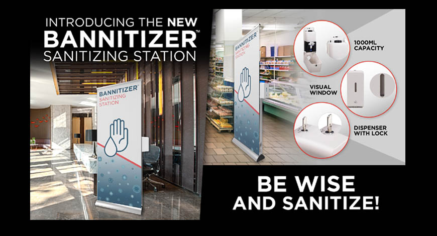 Sanitizing Station with Graphic slider